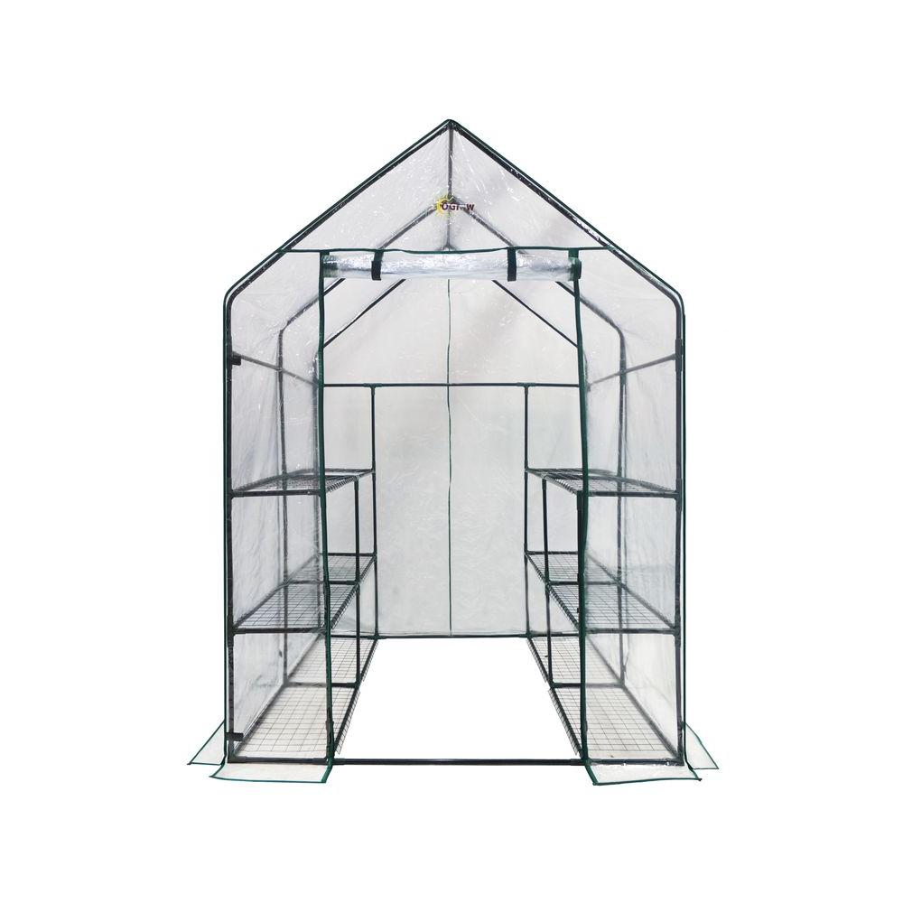 Ogrow Greenhouses 56 in. W x 56 in. D Deluxe Walk-In 6-Tier 12 Shelf Portable Greenhouse OG6868-D Greenhouse, Hoop House, Grow House, High Tunnel, Hothouse, Plant House, Grow Tunnel, Garden Supplies