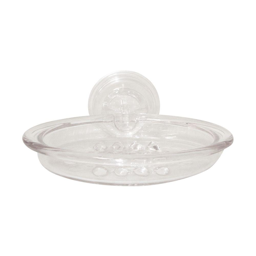 interDesign PowerLock Suction Soap Dish in Clear-51829CX - The Home Depot