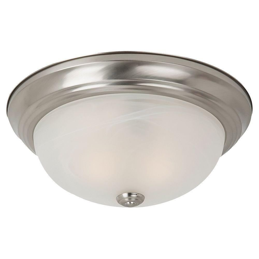 Sea Gull Lighting Windgate 3-Light Brushed Nickel Flushmount