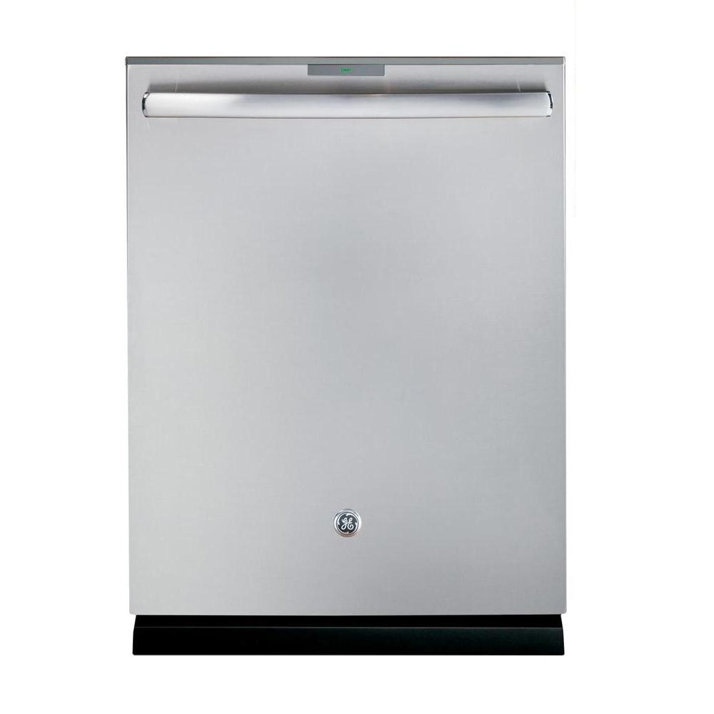 Ge Profile Stainless Steel Interior Dishwasher With Hidden Top Control In Stainless Steel