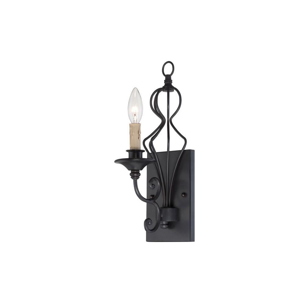 Tangier 1-Light Natural Iron Wall Sconce