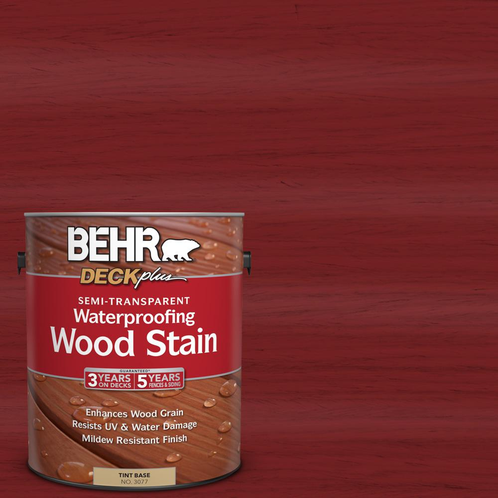 1 gal. #ST-112 Barn Red Semi-Transparent Waterproofing Wood Stain