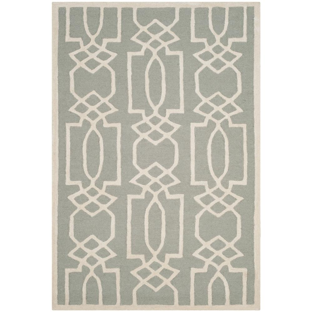Bella Gray/Ivory 8 ft. x 10 ft. Area Rug