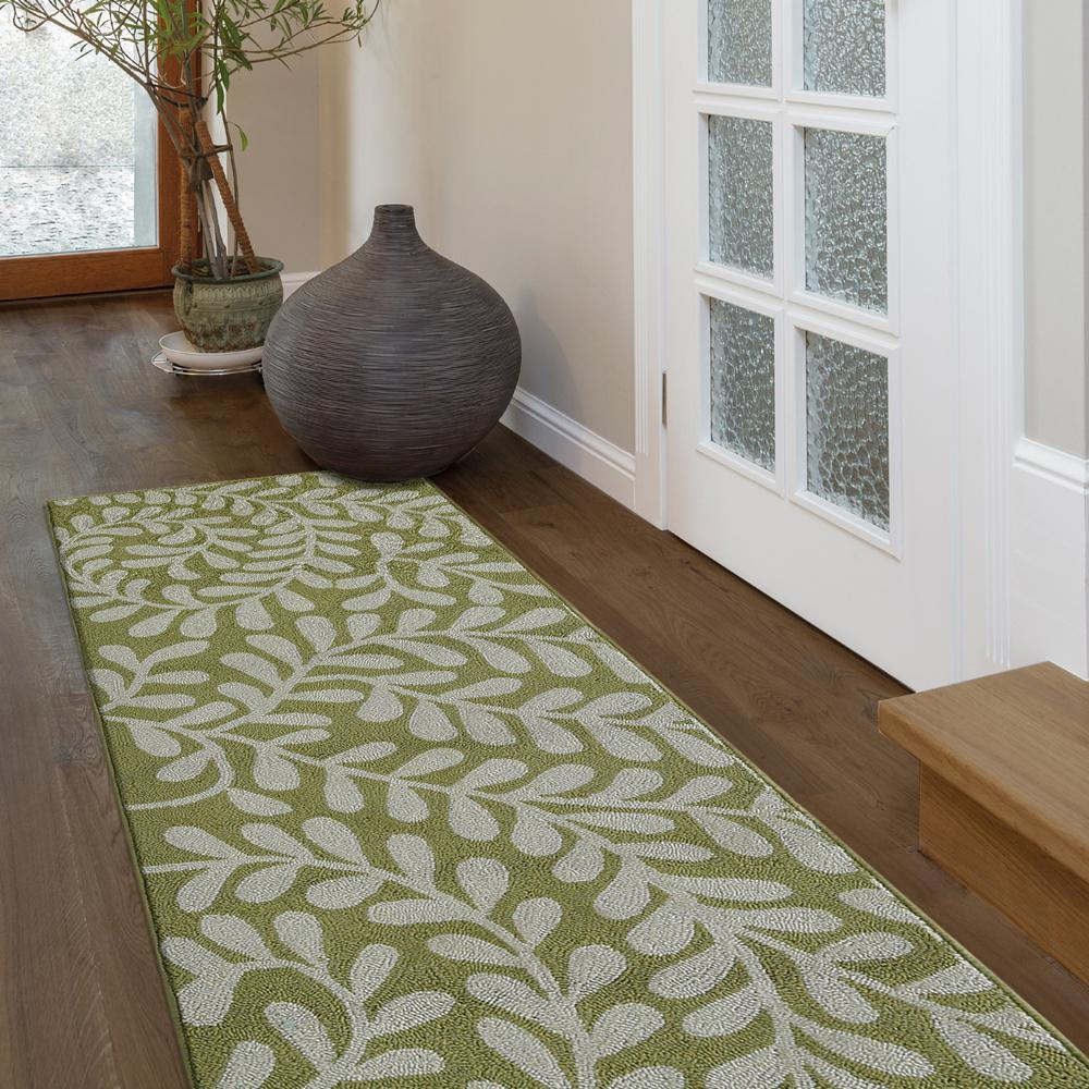 Lanart Fiona Moss Polyester 2 ft. 6 in. x 8 ft. Runner