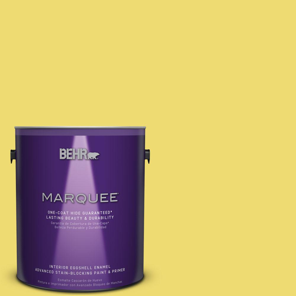 BEHR MARQUEE 1 gal. #T15-15 Plastic Lime Eggshell Enamel Interior Paint-245401