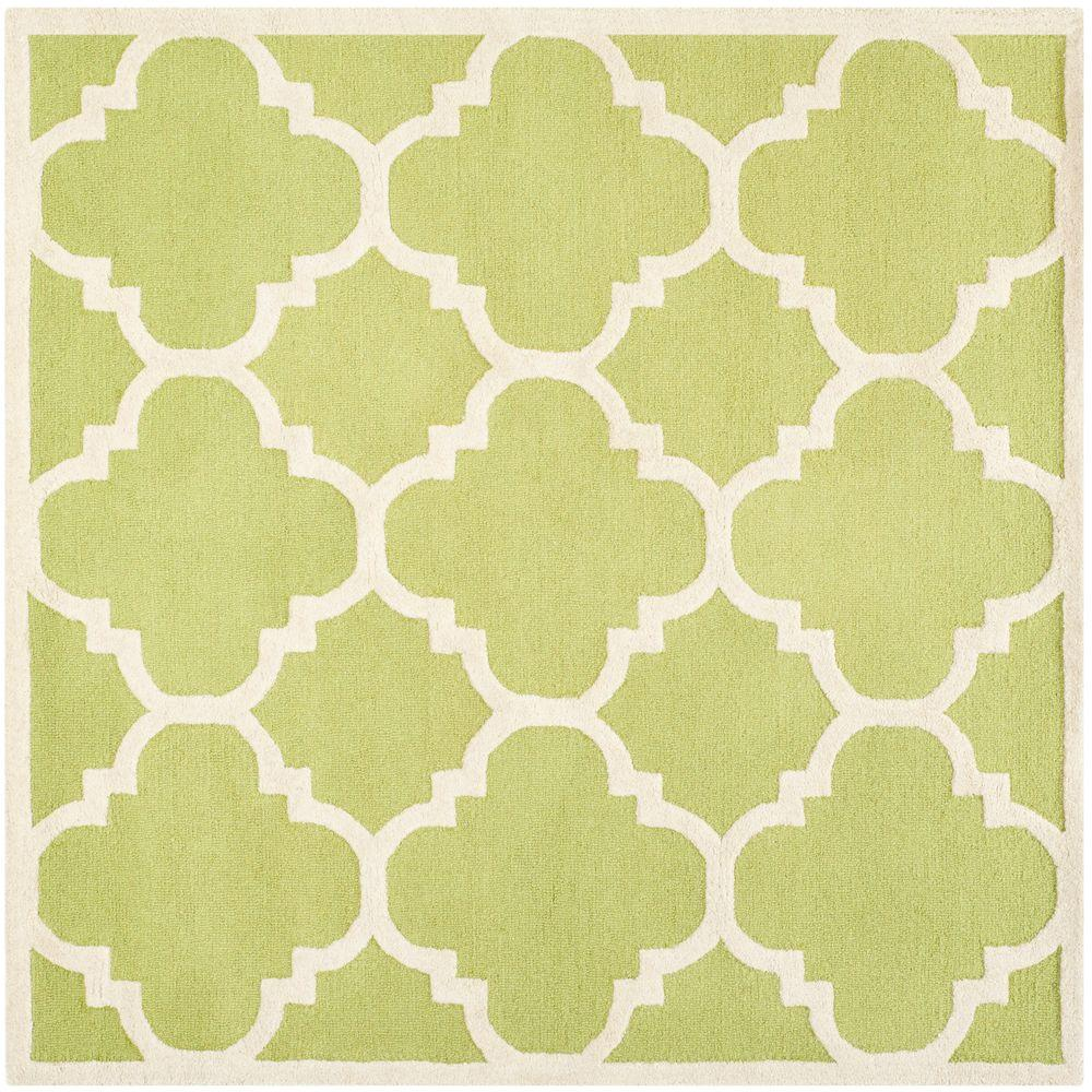 Safavieh Cambridge Green/Ivory 6 ft. x 6 ft. Square Area Rug-CAM140T-6SQ