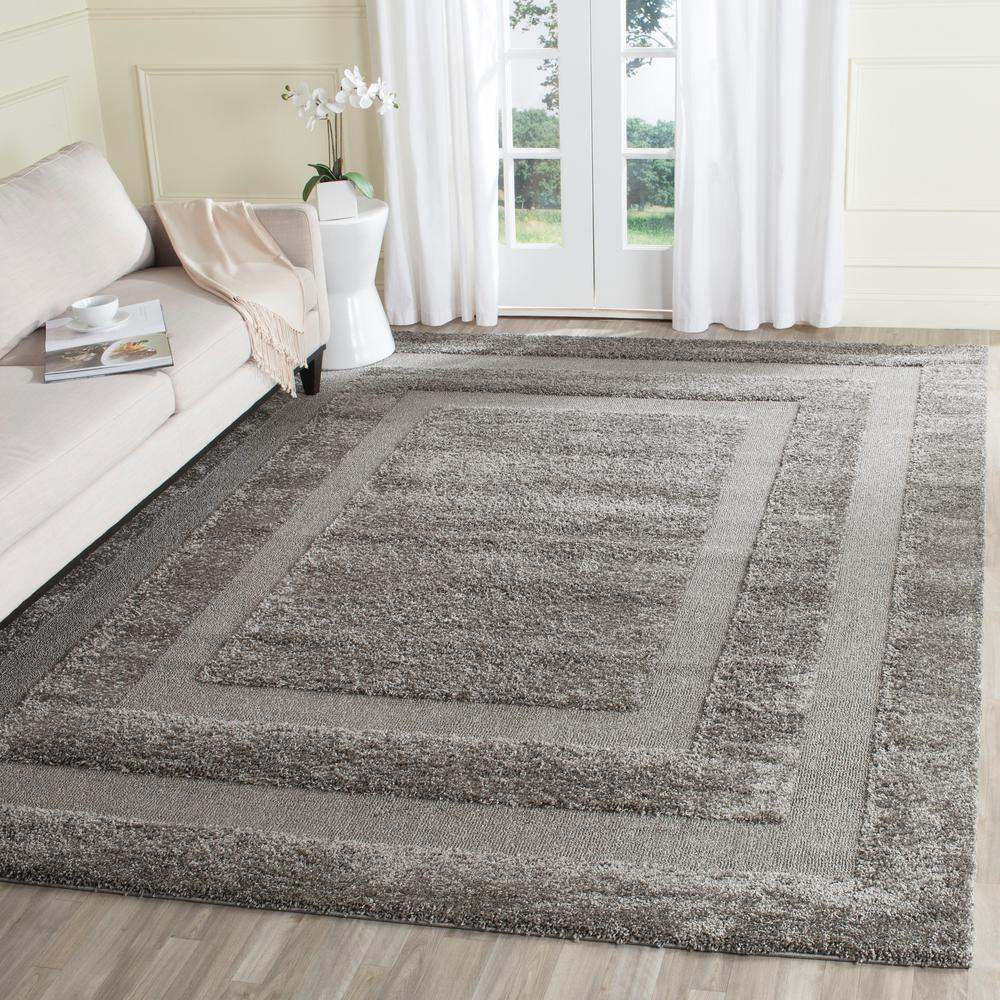 Safavieh Florida Shag Gray 8 ft. 6 in. x 12 ft. Area Rug