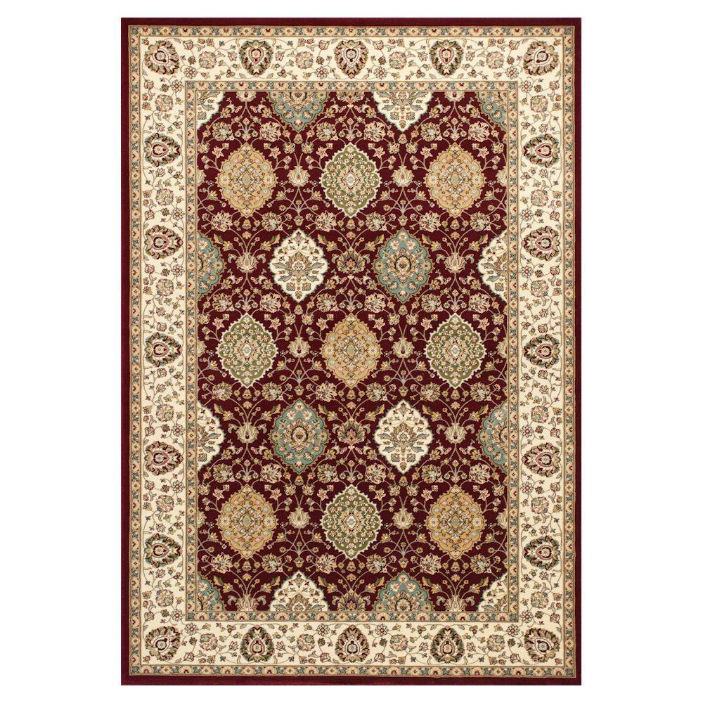 Kas Rugs Reynolds Classic Ruby/Ivory 5 ft. 3 in. x 7