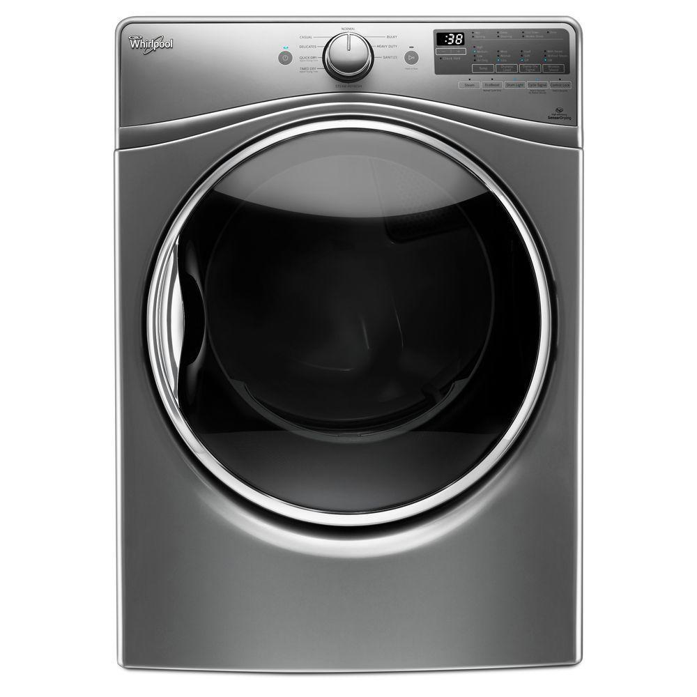 7.4 cu. ft. Gas Dryer with Steam in Chrome Shadow