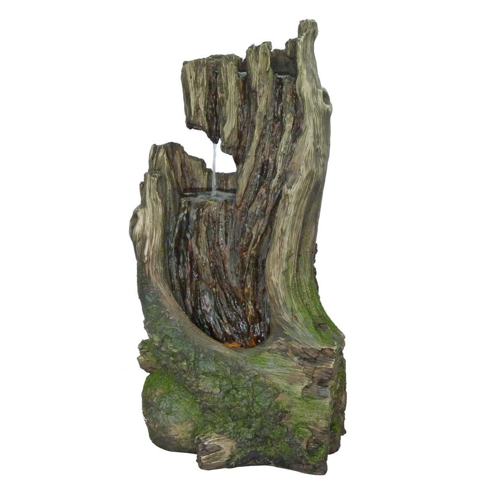 2-Tier Resin Nature Log Fountain