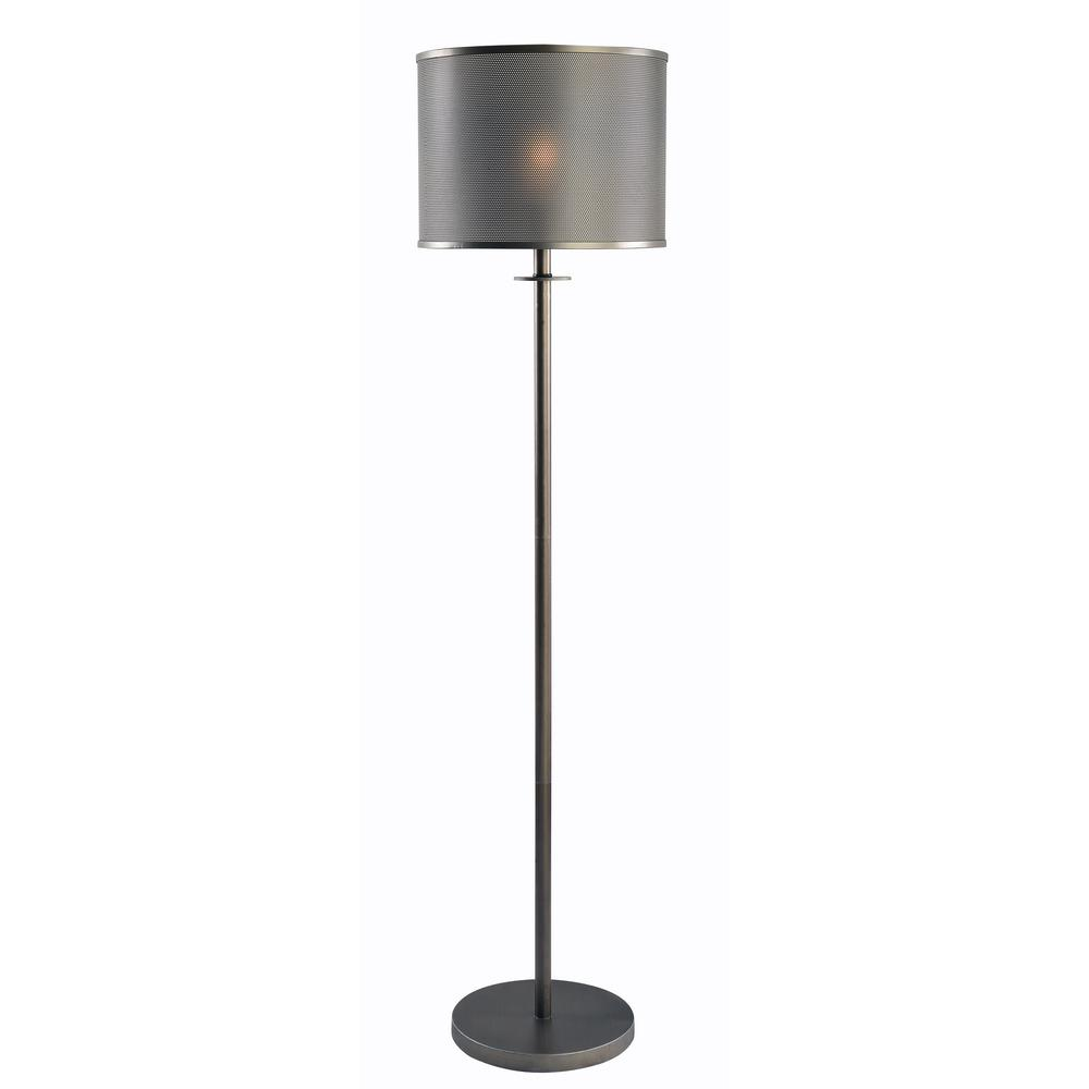 Grater 58 in. Graphite Floor Lamp with Graphite Shade
