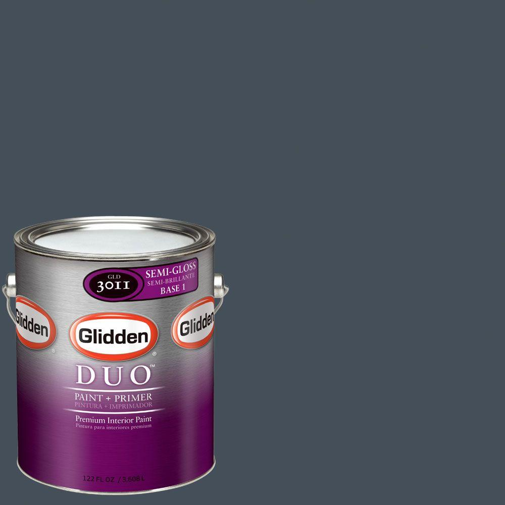 Glidden DUO Martha Stewart Living 1-gal. #MSL168-01S Wrought Iron Semi-Gloss Interior Paint with Primer-DISCONTINUED