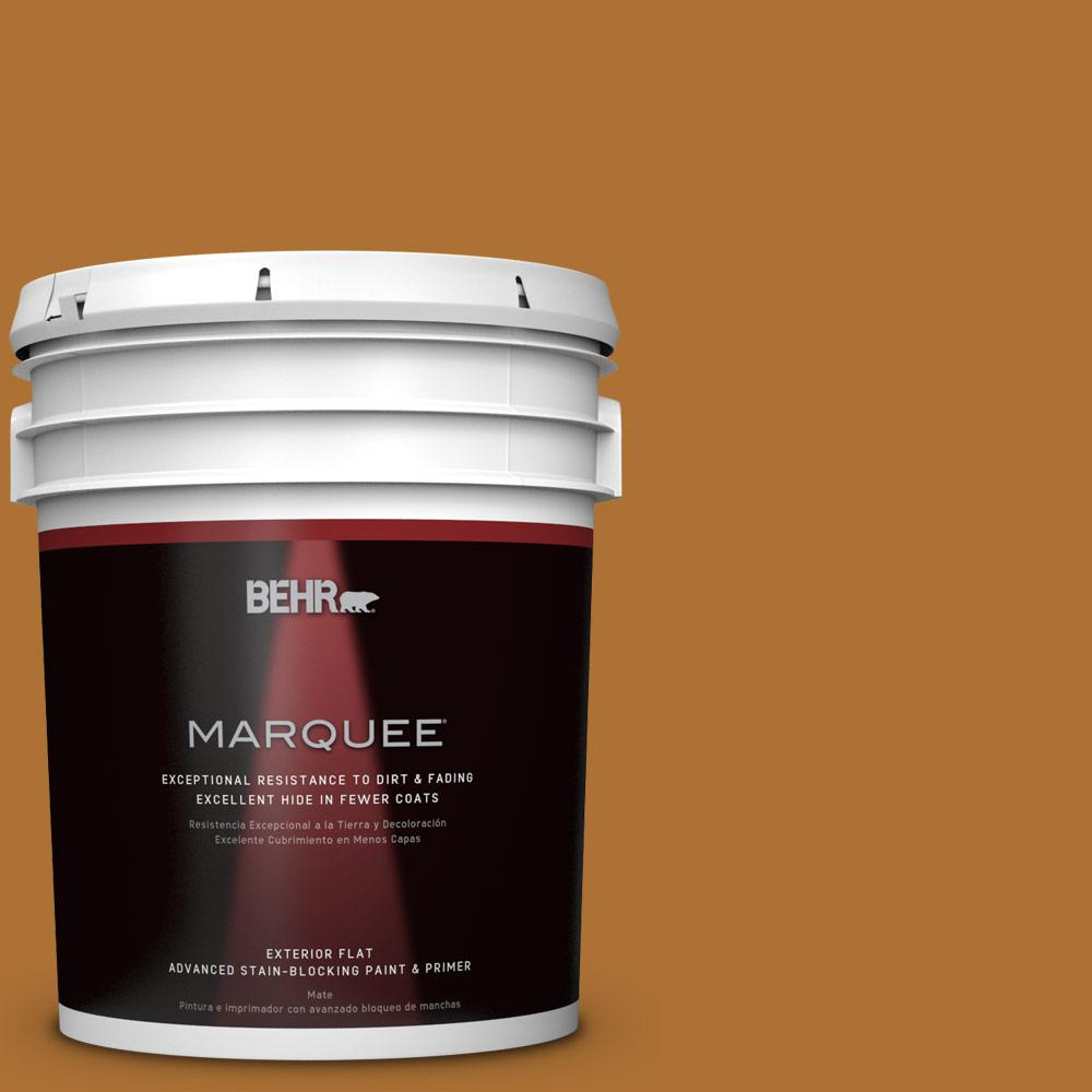 BEHR MARQUEE 5-gal. #S-H-320 Enchanting Ginger Flat Exterior Paint-445305 - The