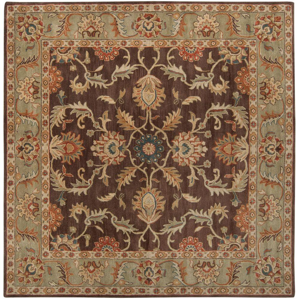 home decorators collection winslow walnut 8 ft x 8 ft square area rug492731 the home depot