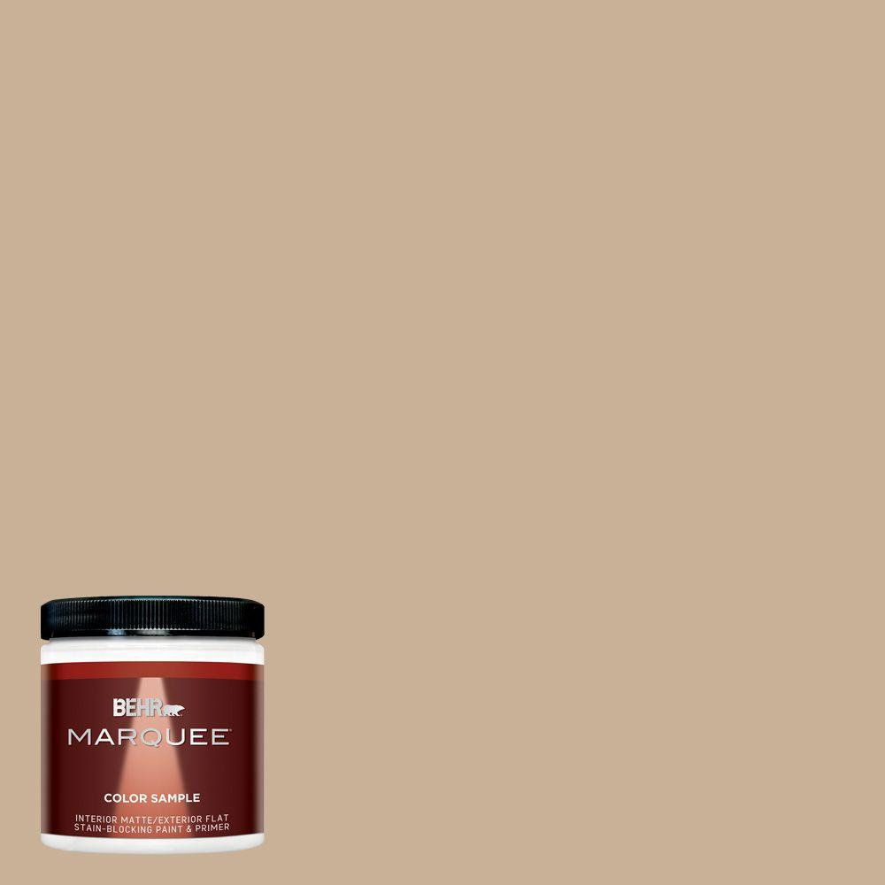 BEHR MARQUEE 8 oz. #MQ2-46 Basswood Interior/Exterior Paint Sample-MQ30416 - The