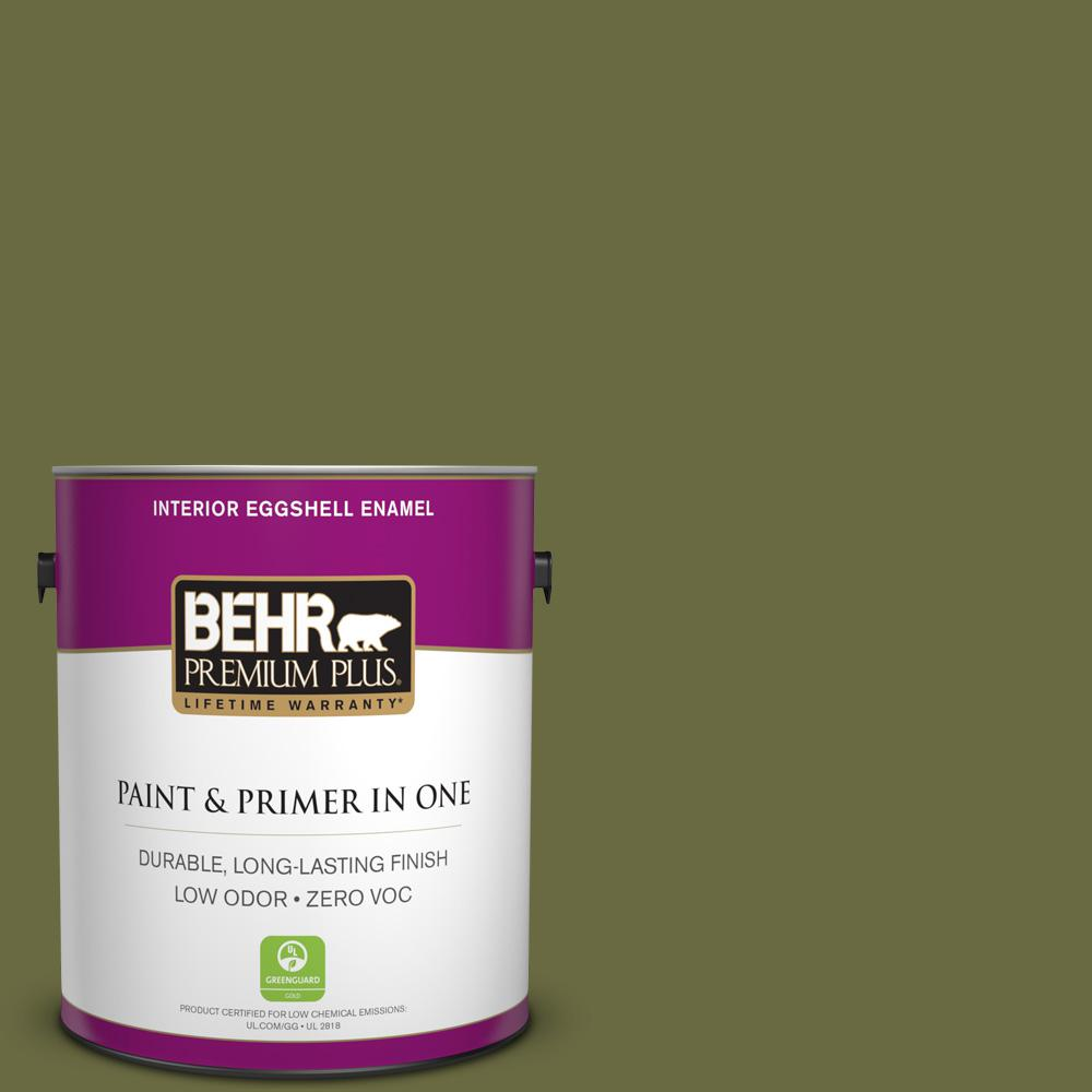 Home Decorators Collection 1-gal. #HDC-CL-20 Portsmouth Olive Zero VOC Eggshell