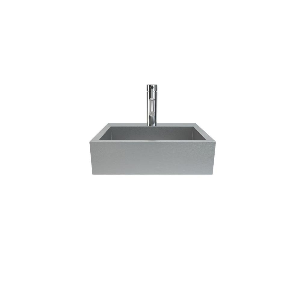 Cantrio Wall Hung Bathroom Sink in Stainless Steel