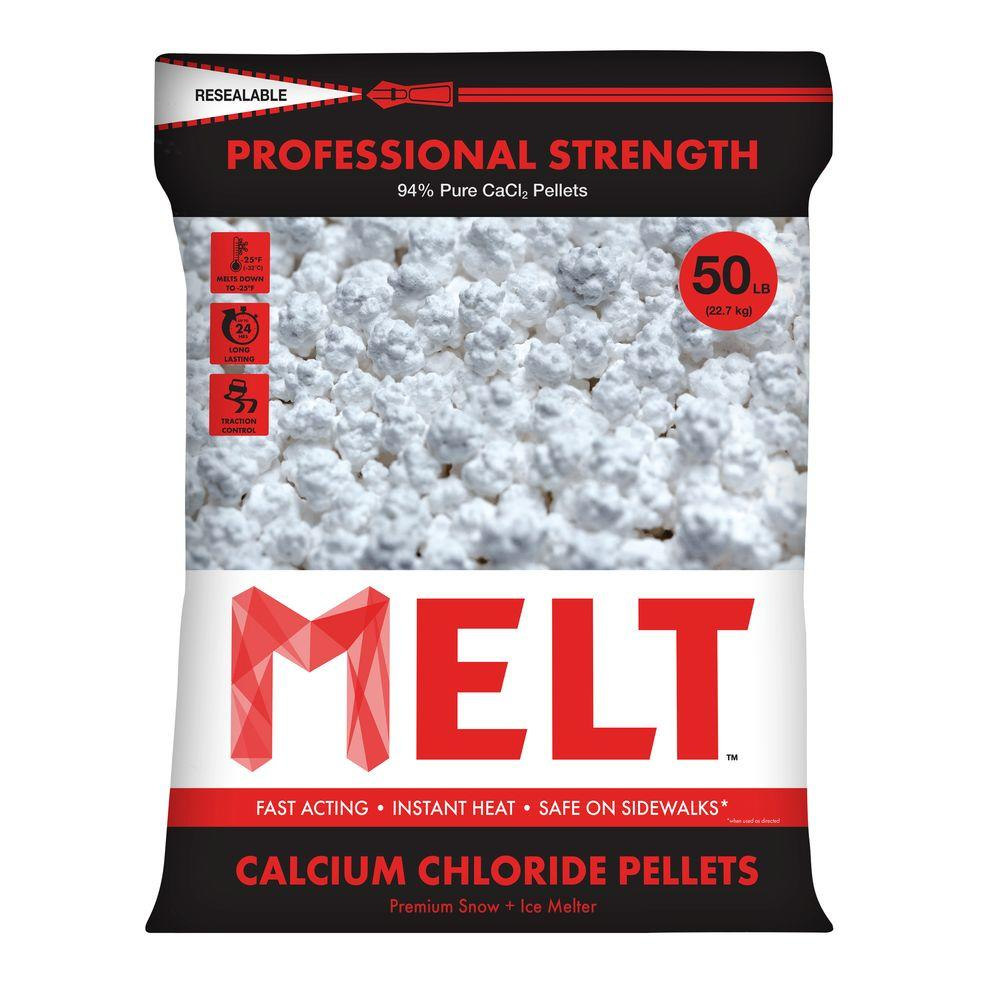 50 lb. Professional Strength Calcium Chloride Pellets Ice Melter - Re-Sealable