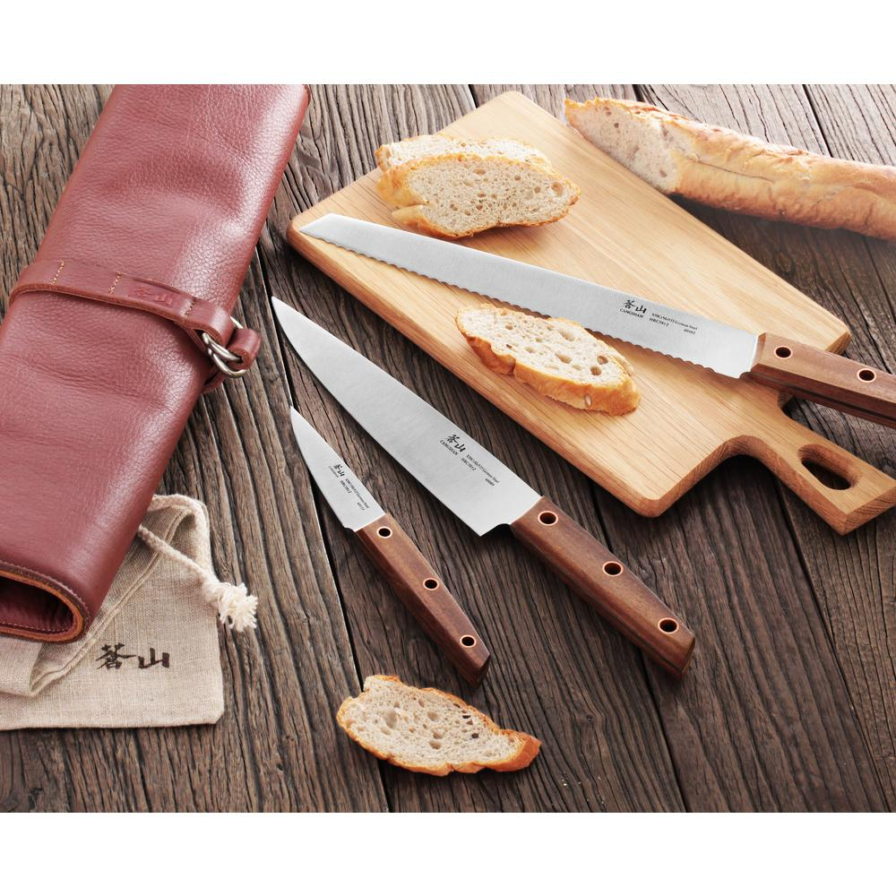 Cangshan W Series 4-Piece Leather Roll Knife Set-59953 - The Home