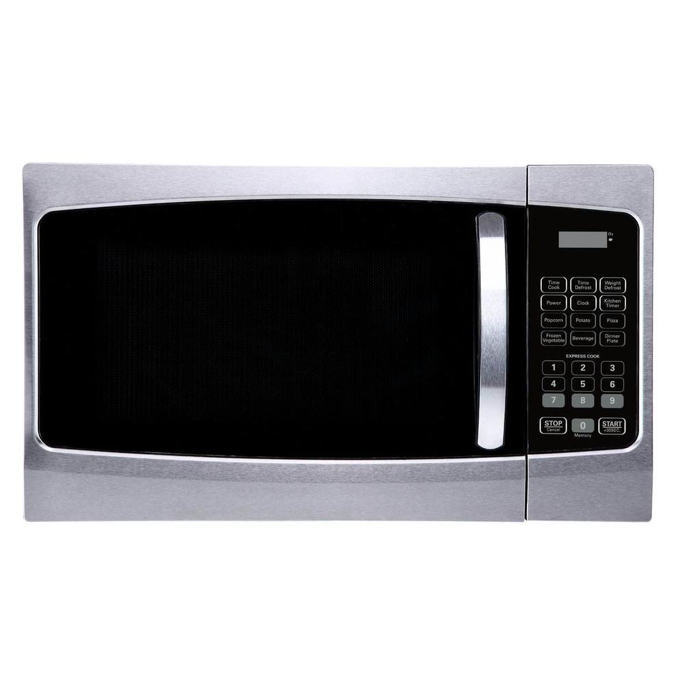 Magic Chef 1.3 cu. ft. Countertop Microwave Oven in Stainless Steel Front