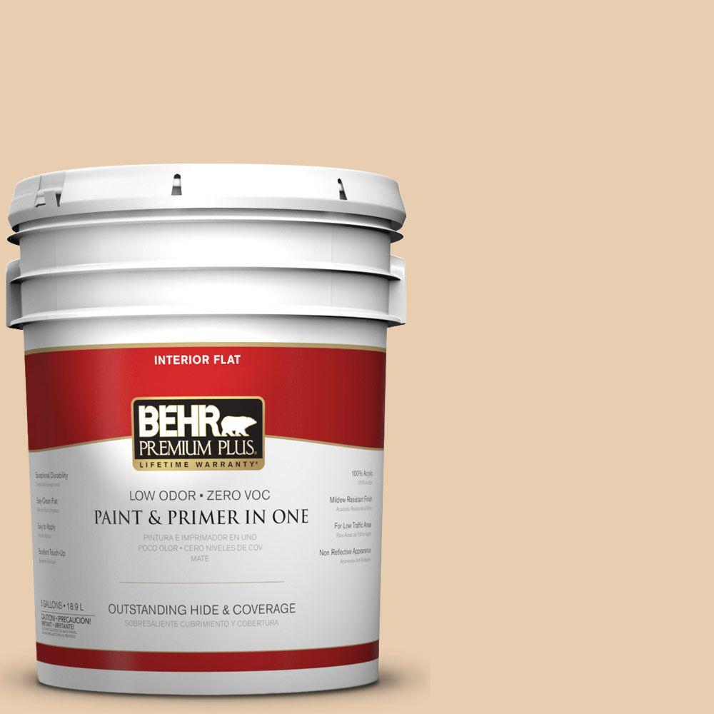 5-gal. #BXC-64 Shortbread Cookie Flat Interior Paint