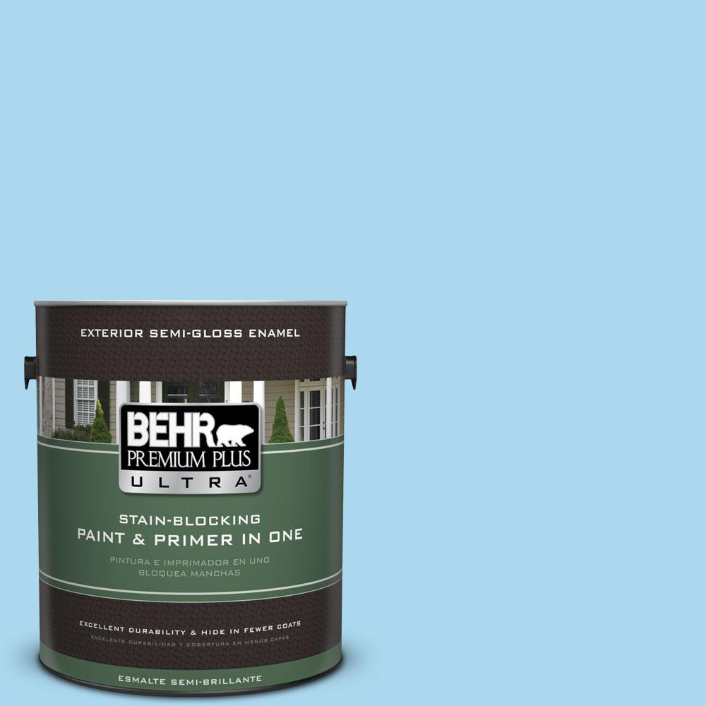 1-gal. #540A-3 Blue Feather Semi-Gloss Enamel Exterior Paint