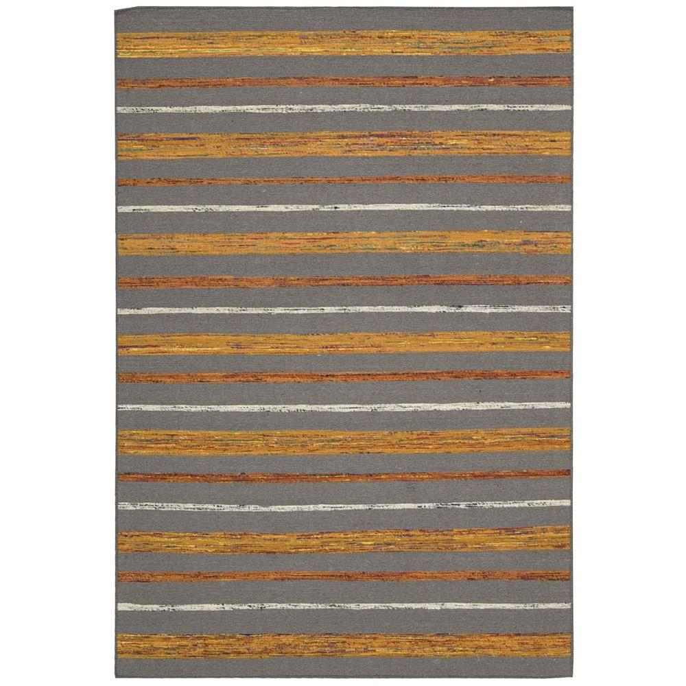 Spectrum Grey/Flame 2 ft. 6 in. x 4 ft. Accent Rug