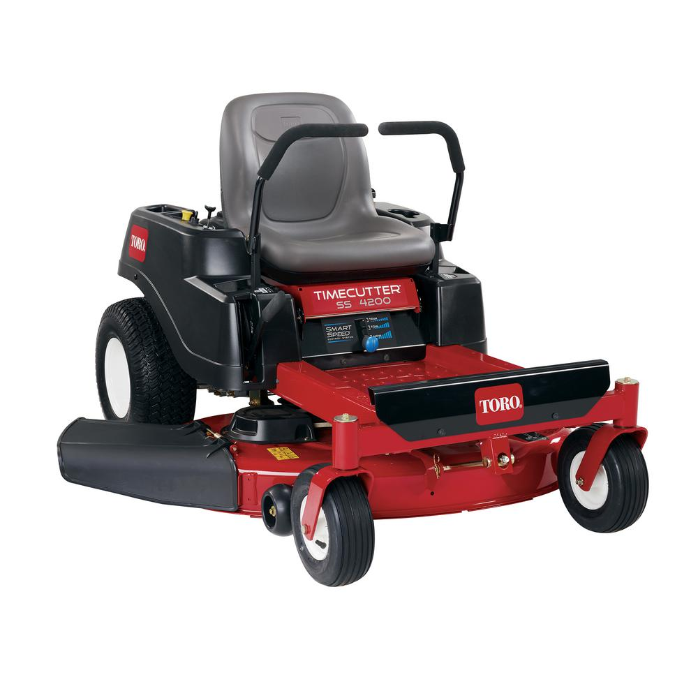 TimeCutter SS4200 42 in. 452cc Gas Zero-Turn Riding Mower with Smart