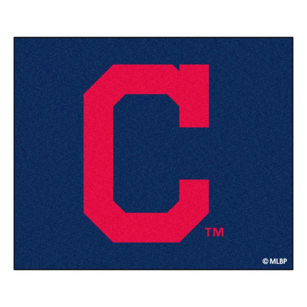 MLB Cleveland Indians Navy 5 ft. x 6 ft. Area Rug