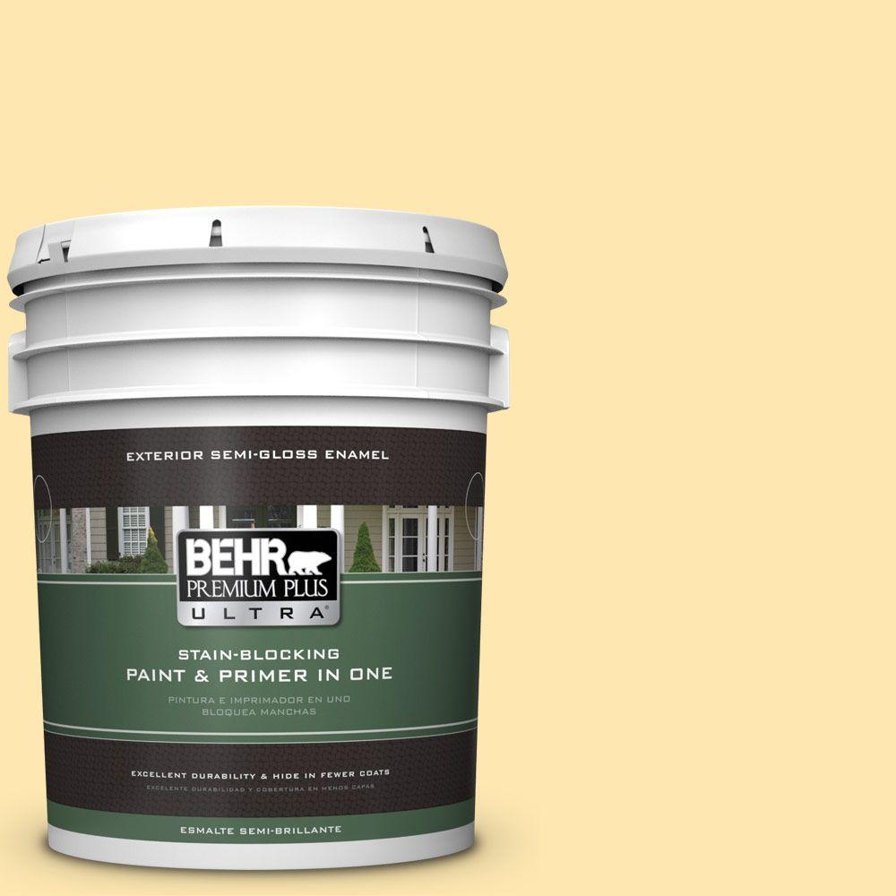 5-gal. #330A-3 Lively Yellow Semi-Gloss Enamel Exterior Paint