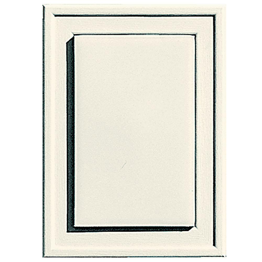 Builders Edge 4.5 in. x 6.3125 in. #034 Parchment Raised Mini Mounting Block
