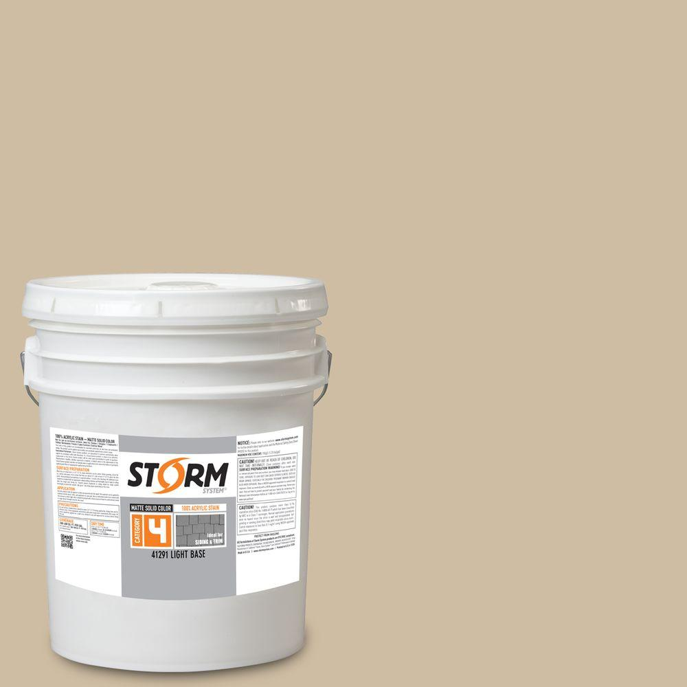 Storm System Category 4 5 gal. Mystic Dune Matte Exterior Wood Siding 100% Acrylic Stain