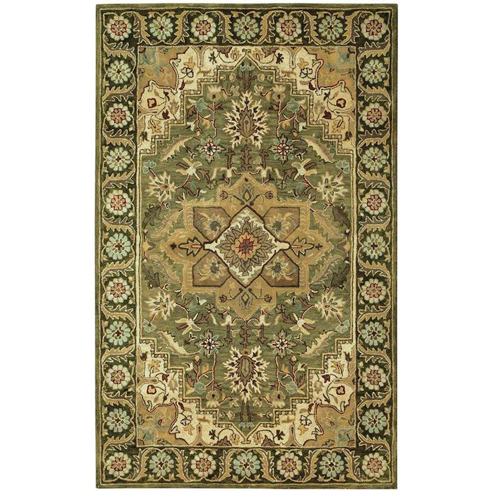 Home Decorators Collection Normandie Sage/Green 5 ft. 3 in. x 8 ft. 3 in. Area Rug