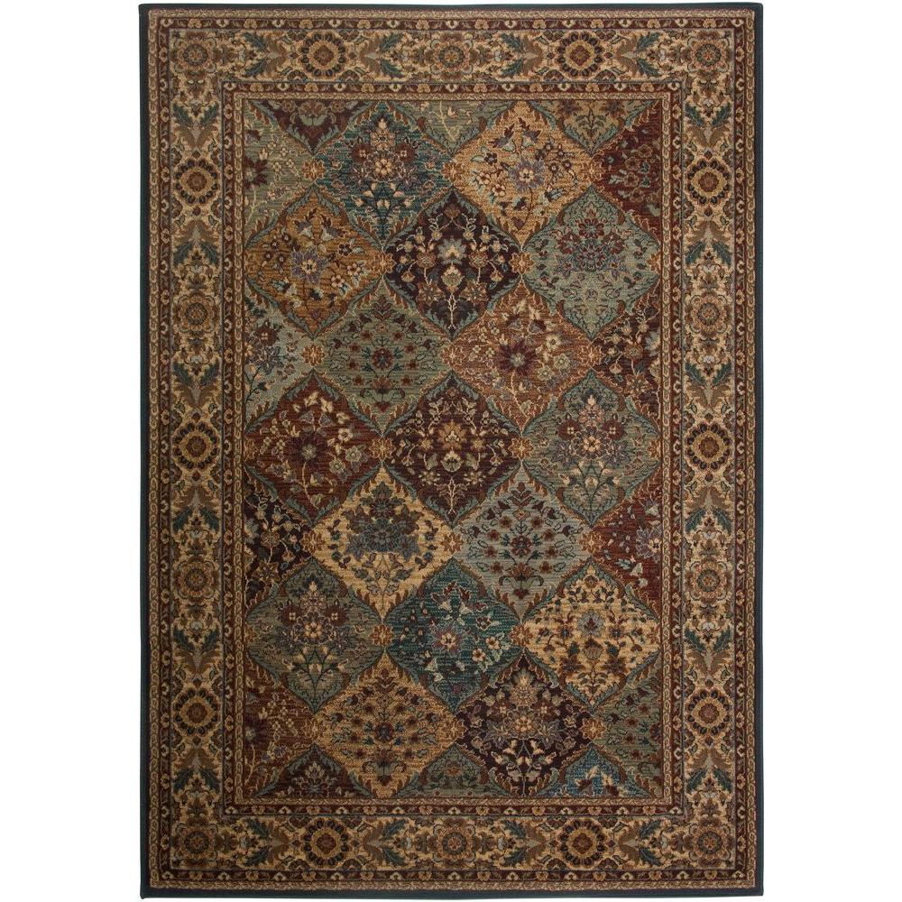 Rizzy Home Bellevue Collection Black and Tan 1 ft. 8 in. x 2 ft. 6 in. Area Rug-DISCONTINUED