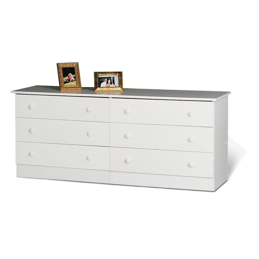 Edenvale White 6-Drawer Dresser
