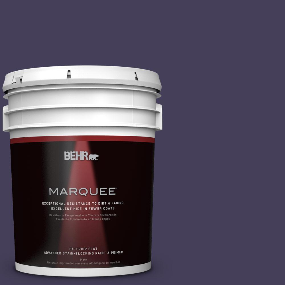 BEHR MARQUEE 5-gal. #S-H-640 Purple Blanket Flat Exterior Paint