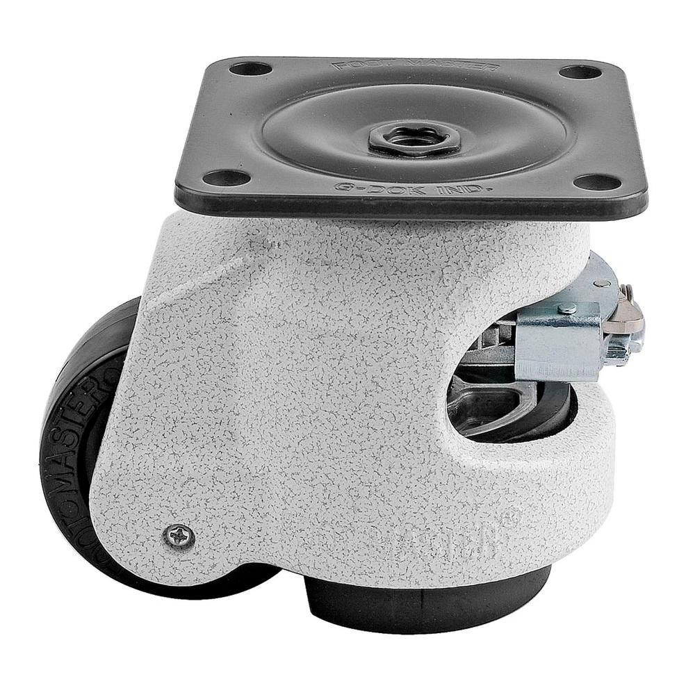 Foot Master 2-1/2 in. Nylon Wheel Top Plate Ratcheting Leveling Caster with Load Rating 1100 lbs.