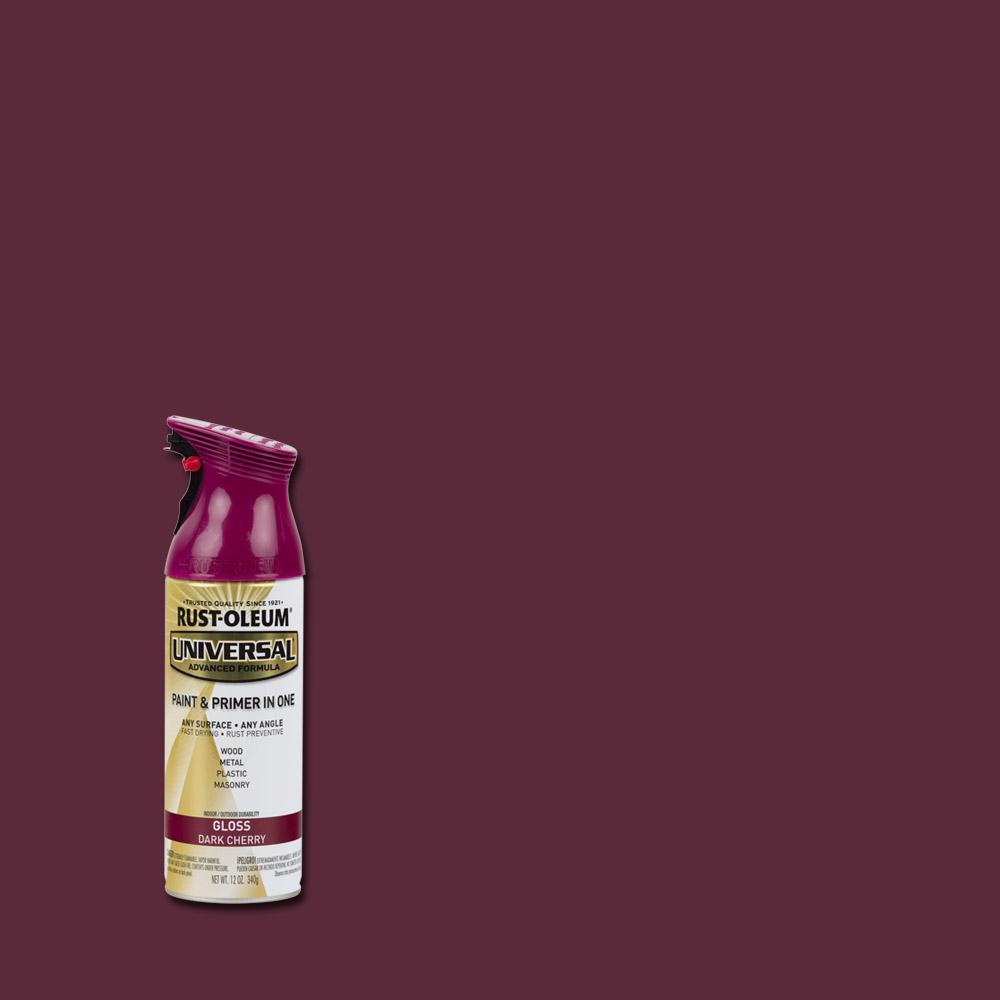 Rust-Oleum Universal 12 oz. All Surface Gloss Dark Cherry Spray Paint and Primer in One (6-Pack)