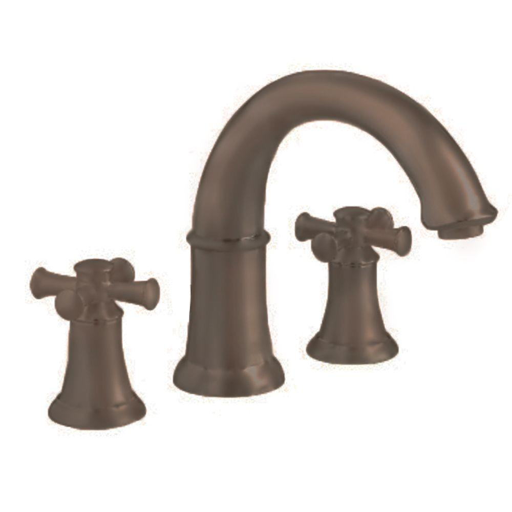 American Standard Portsmouth Cross 2-Handle Deck-Mount Roman Tub Faucet in Oil Rubbed Bronze
