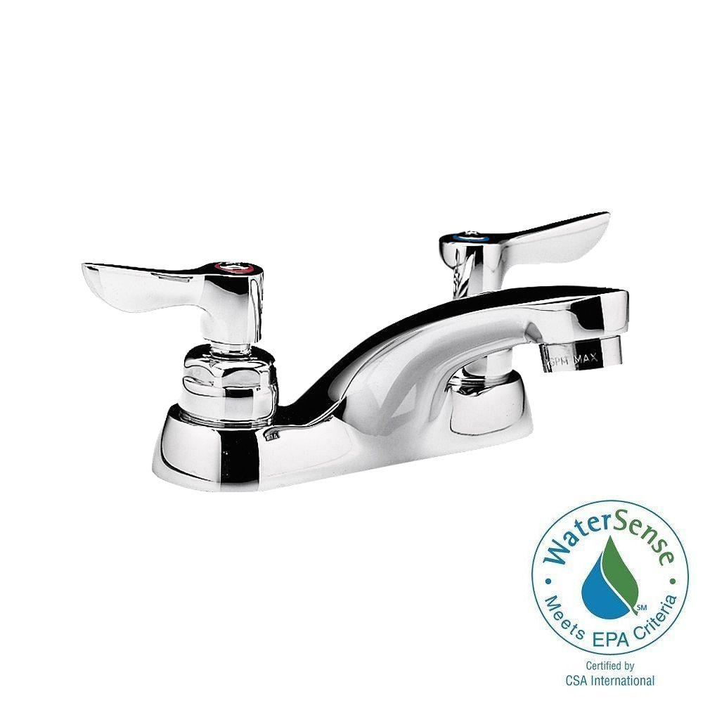 Monterrey 4 in. Centerset 2-Handle Bathroom Faucet in Polished Chrome with