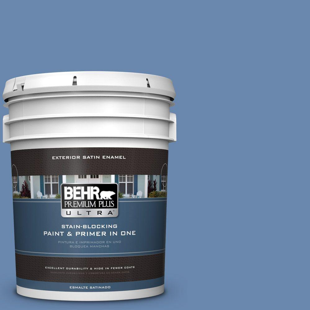 5-gal. #M530-5 Cowgirl Blue Satin Enamel Exterior Paint