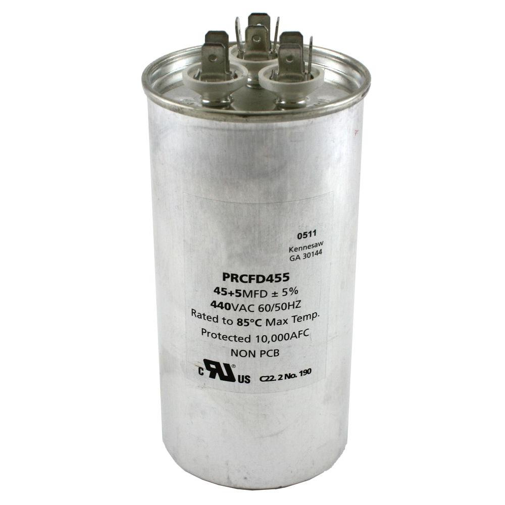 Packard 440 Volts Dual Rated Motor Run Capacitors Round MFD 45 /5.0-DISCONTINUED