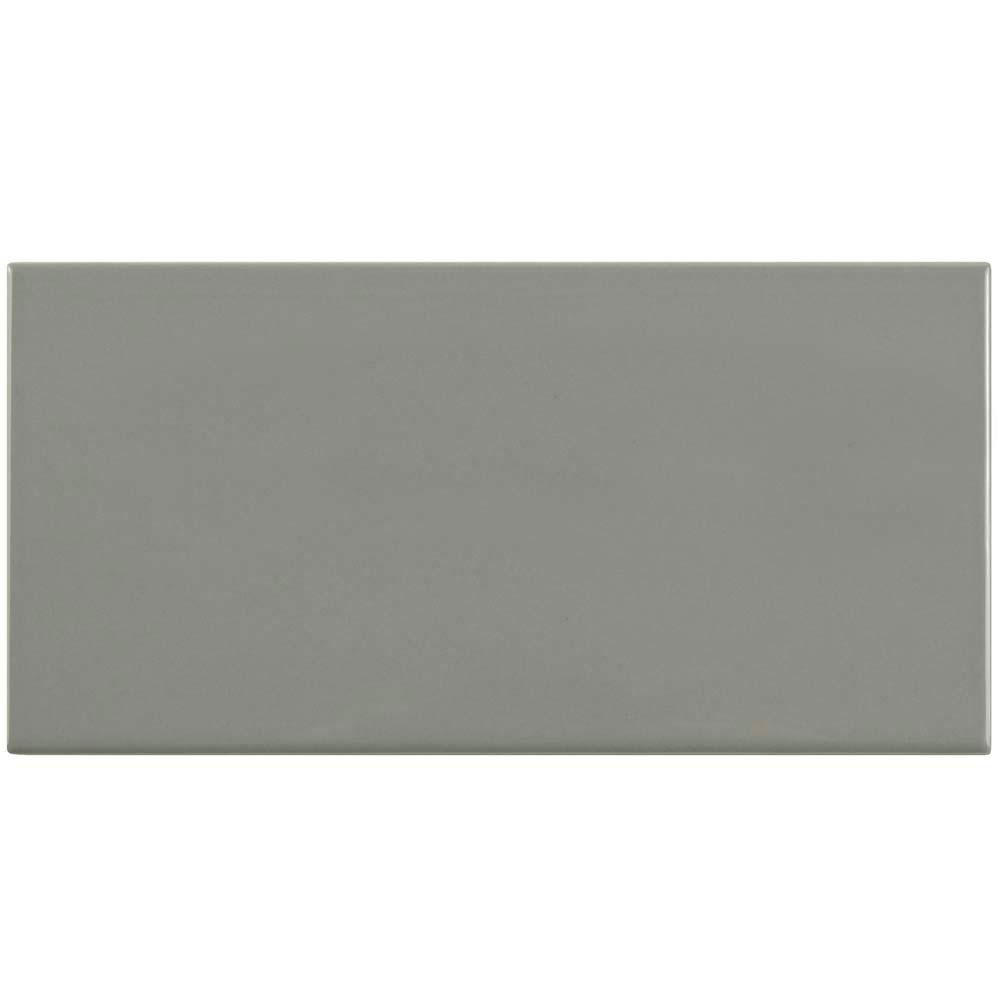 Park Slope Subway Glossy Warm Grey 3 In X 6 Ceramic Wall Tile