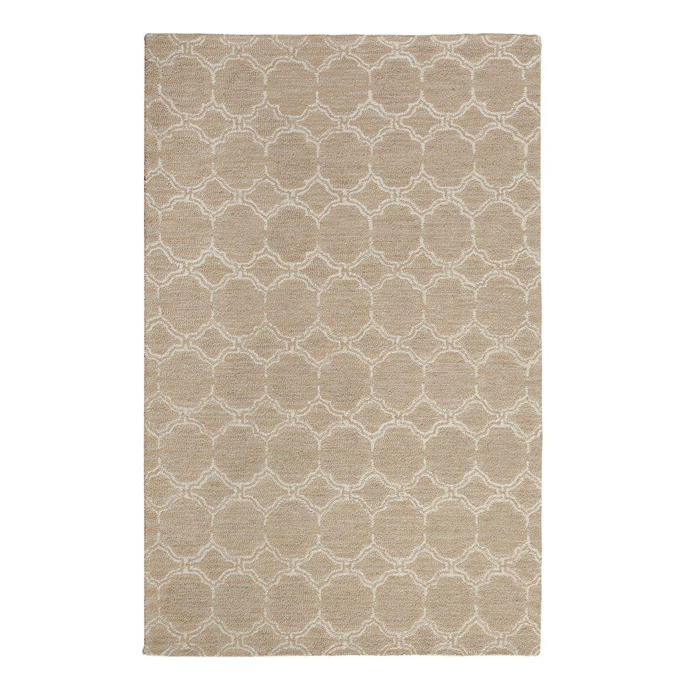 Melanie Taupe/White 5 ft. x 7 ft. 9 in. Area Rug