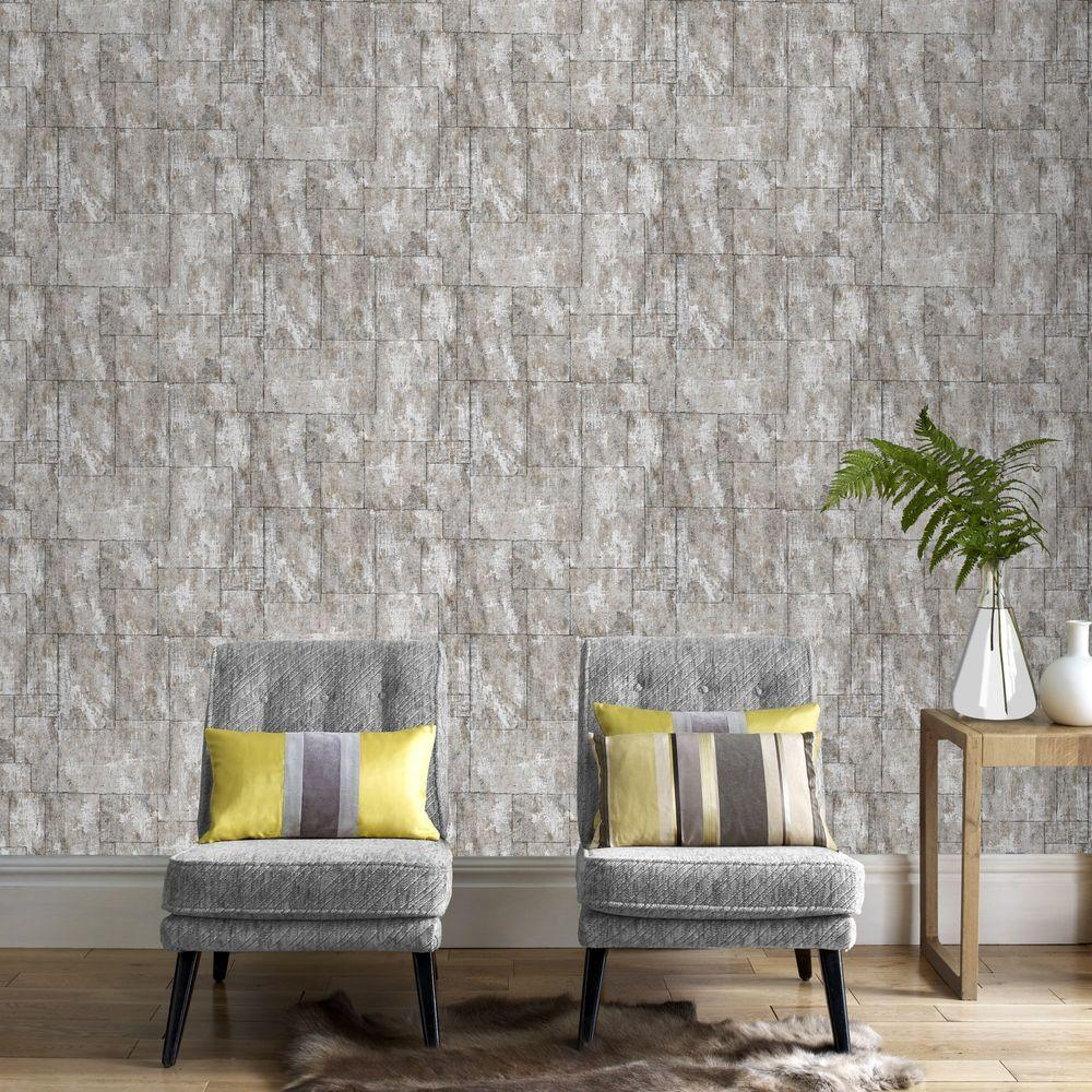 Graham brown stone mineral wallpaper 101450 the home depot for Mineral wall