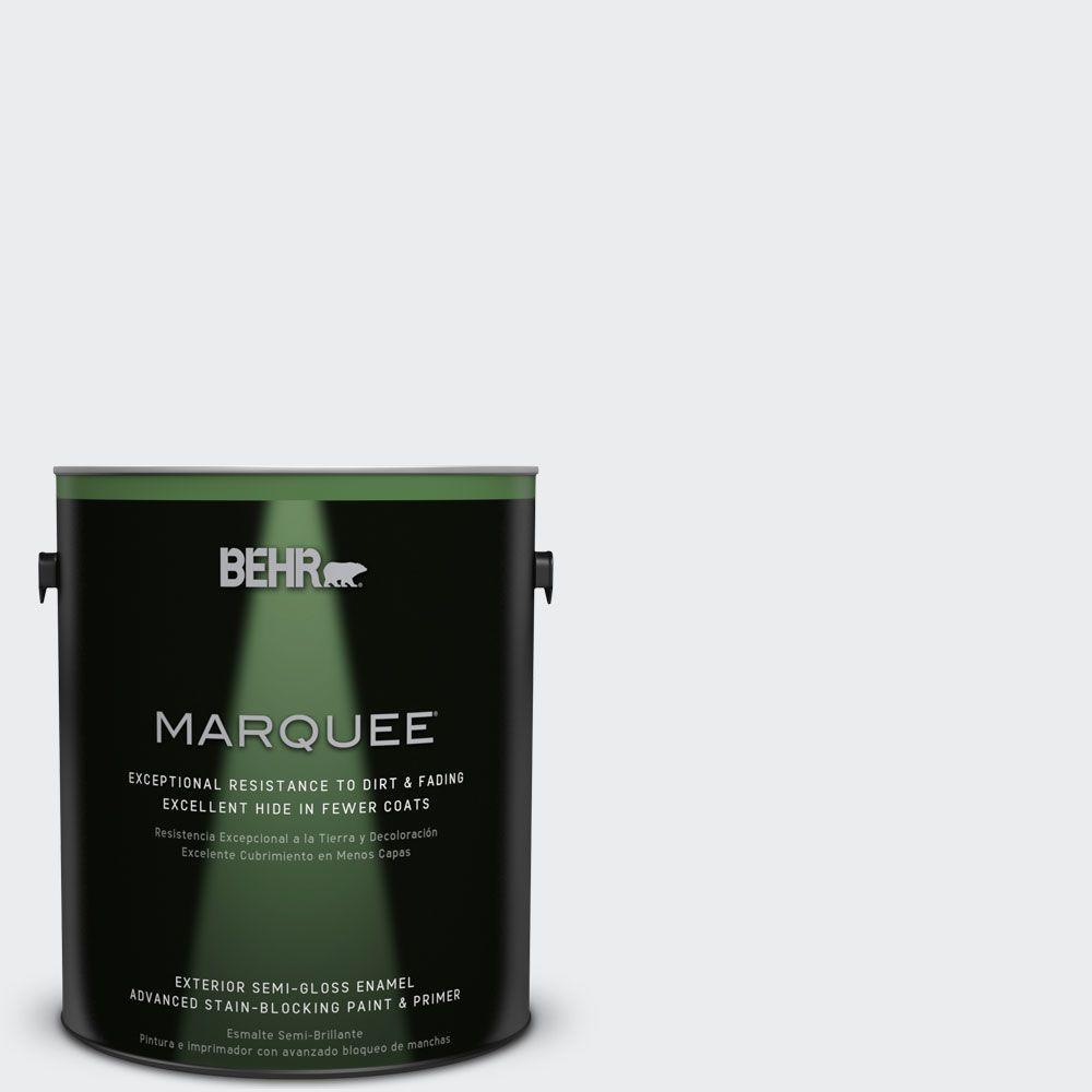 BEHR MARQUEE 1-gal. #BWC-12 Vibrant White Semi-Gloss Enamel Exterior