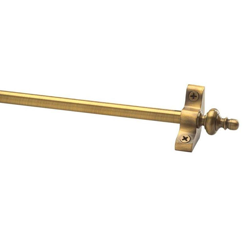 Select collection Brass Tubular 28.5 in. x 3/8 in. Antique Brass