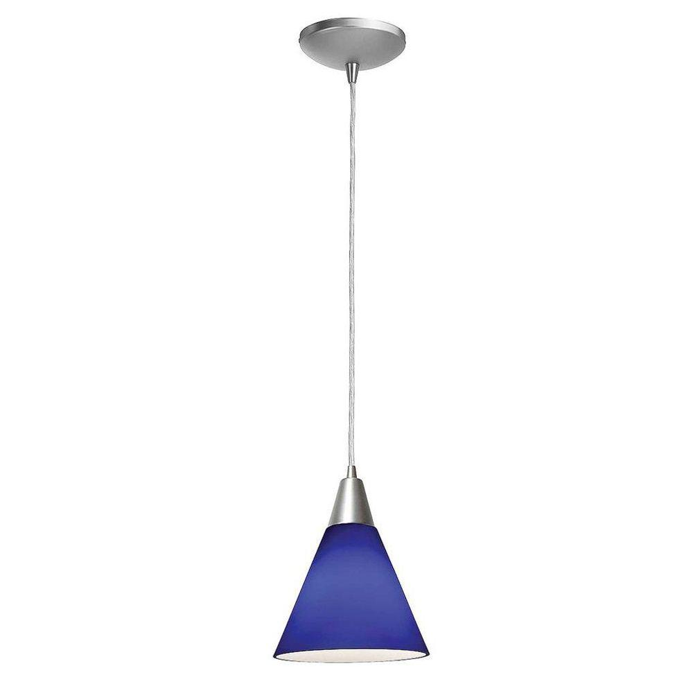 Access Lighting 1-Light Pendant Oil Rubbed Bronze Finish Cobalt Blue Glass-DISCONTINUED