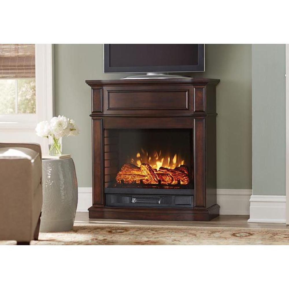 Home Decorators Collection Niya 32 In Ir Electric Fireplace In Dark Cherry 25 898 72 The Home