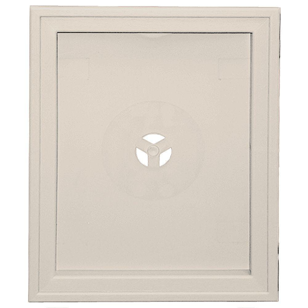 6.75 in. x 8.75 in. #048 Almond Large Recessed Mounting Block